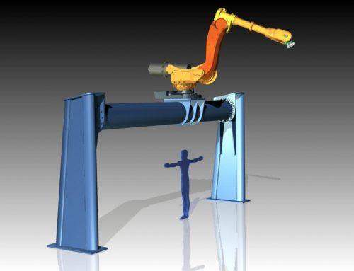 Diseño de pórtico para robot manipulador