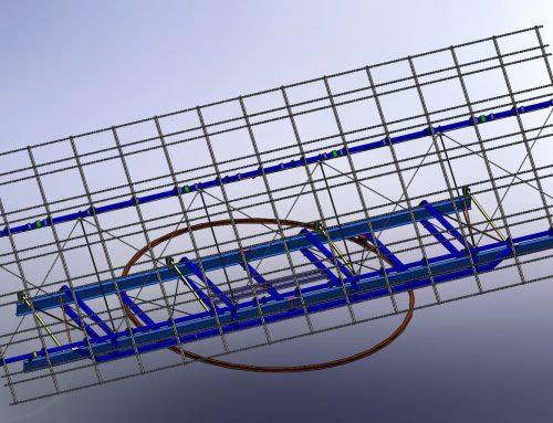 Modelado 3D y planos de seguidor solar