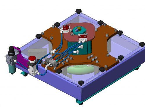 Dispositivo para medición de velocidad y banco de ensayos