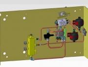 Instalación hidráulica frenado
